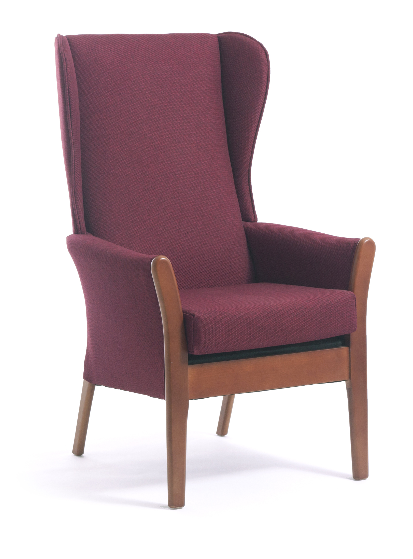 Dalton high back armchair with wings cfs contract for Armchair with high back
