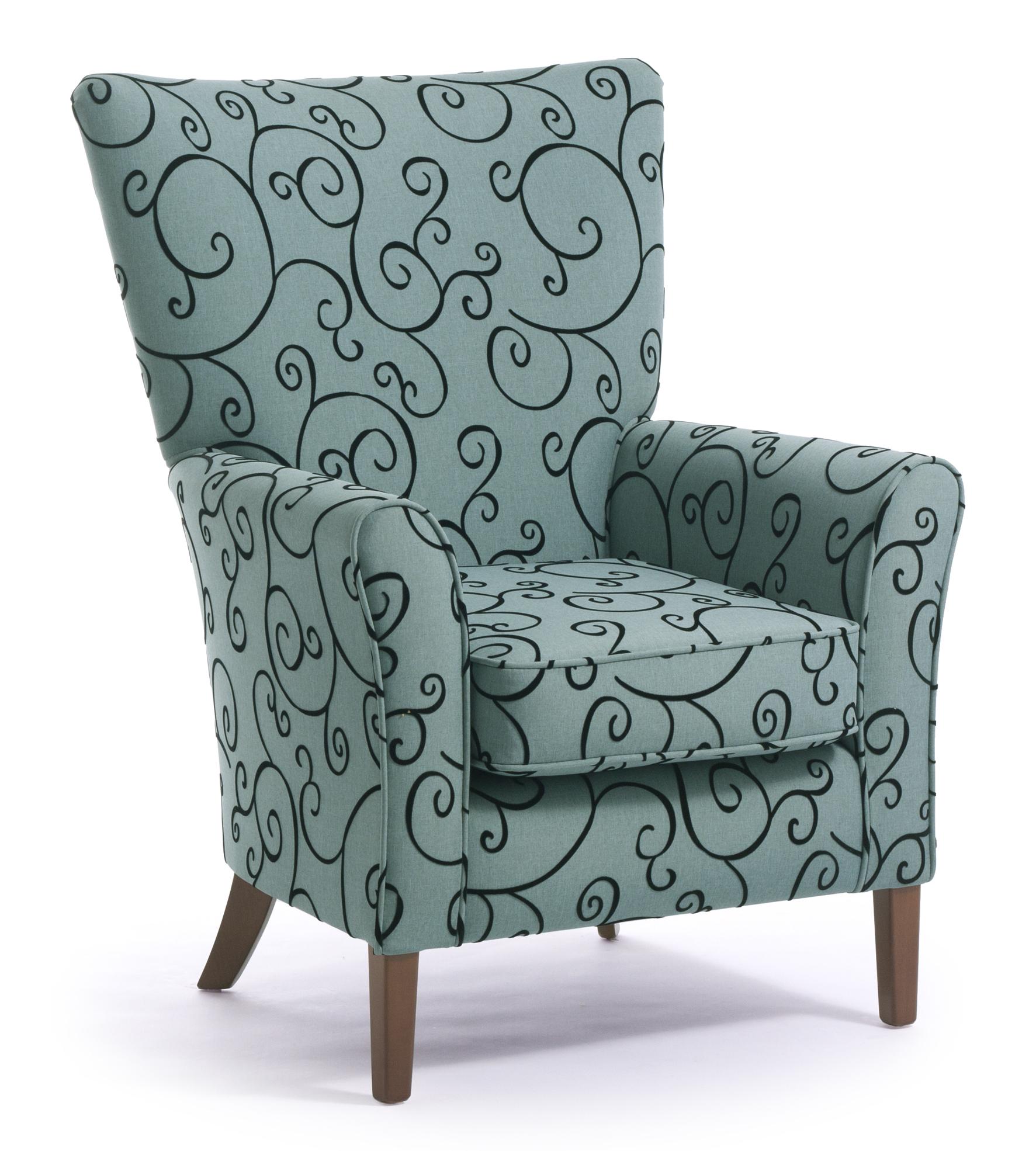Armchair johnston armchair bridge armchair pod modular for Grey single chair
